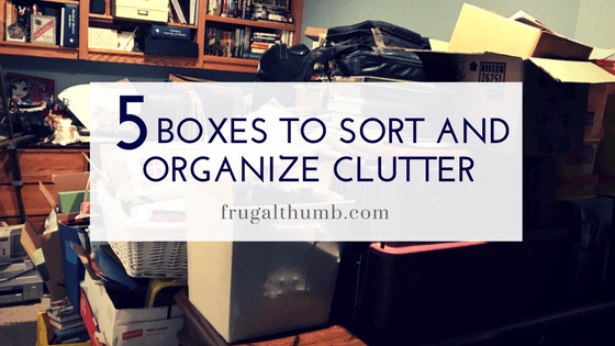 Five Boxes to Declutter