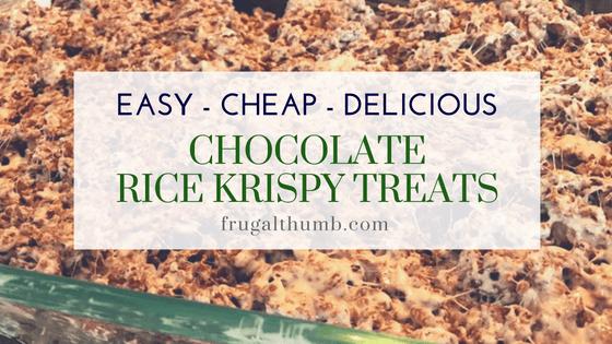 Chocolate Rice Krispy Treats