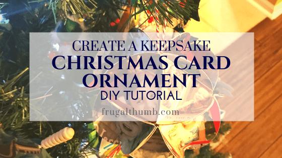 Create a keepsake Christmas card ornament