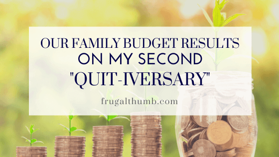 Our Family Budget Results on My Second Quitting Anniversary